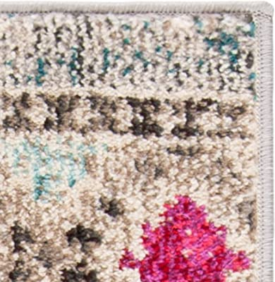 Safavieh Marabel Tapis en polypropylène tissé Gris/Jaune 120 x 180 cm