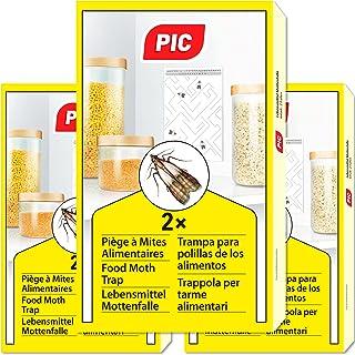 PIC Piéges à Mites Alimentaires Paquet Triple = 6pièges Anti Mites - Piège à phéromones pour la Cuisine et Les magasins - ...