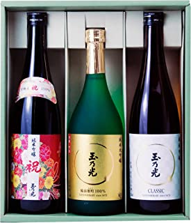 父の日・母の日 玉乃光 人気の純米大吟醸・純米吟醸 飲み比べセットTG-3B 京都・伏見 日本酒