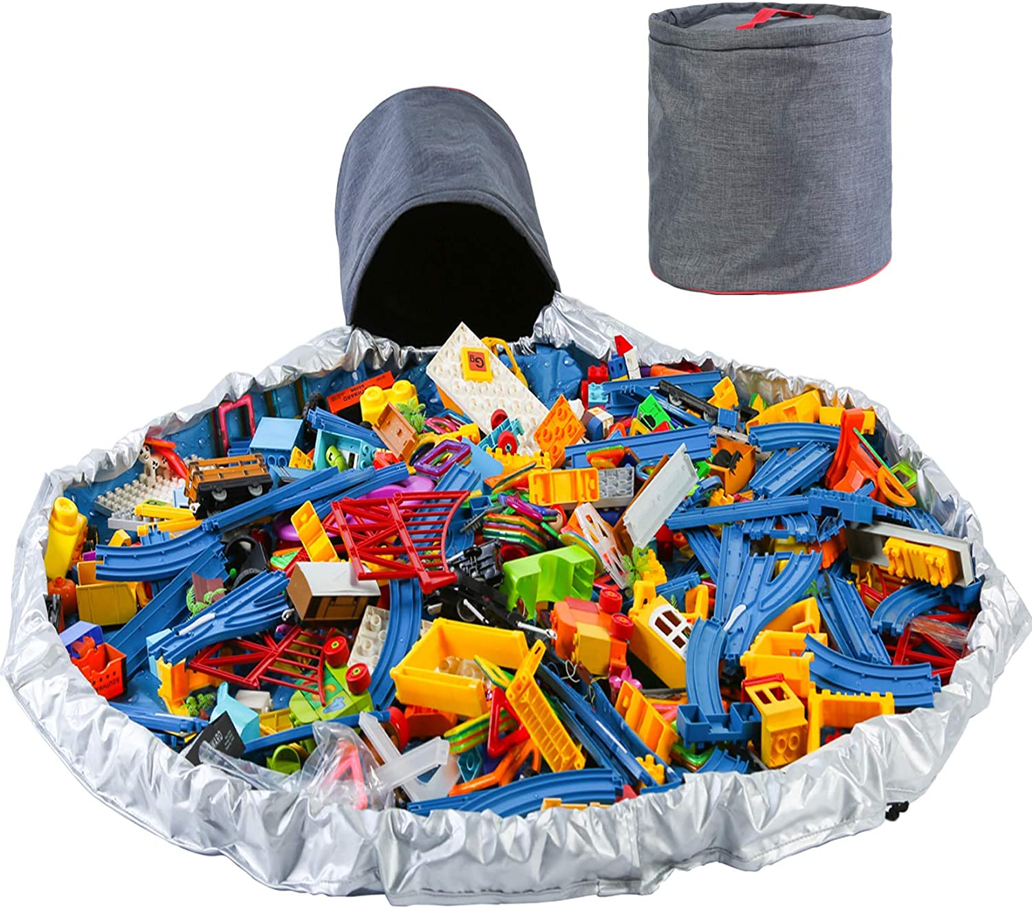 gift HXZB Indefinitely Toy Clean-up and Storage Mat Container Mul Play Integrated