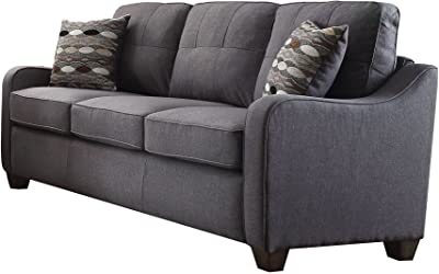 3 pcs Set with Sofa, Love Seat and Chair K-Living Emma Leathaire Recliner Complete Set in Black