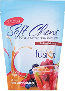 Bariatric Fusion Calcium Citrate 500mg & Energy Soft Chews Fruit Punch Flavor for Bariatric Surgery Patients Including Gas...