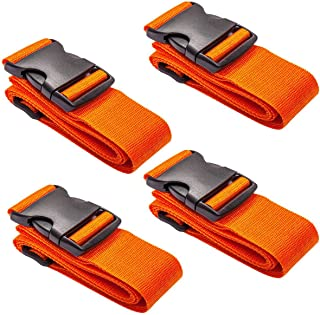 4 Pack Luggage Belt Adjustable Travel Suitcase Belt Attachment Luggage Straps Heavy Duty Travel