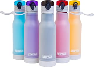 COMFYGLO Glow in the Dark Water Bottle – Eco Friendly Frosted Sports Double Layer Flip Top Plastic Design