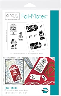"""Gina K. Designs for Therm O Web Foil-Mates Holiday, 5.5"""" x 8.5"""", TagTidings"""