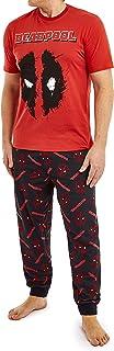 Marvel Deadpool Mens Pyjamas Set, Cotton Men PJs With Short Sleeve M, L, XL, 2XL