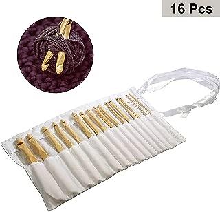 iSuperb 5 St/ücke Holz Stricknadeln Wooden Weaving Needles Nadelform Webschiffchen Strickgabel aus Naturholz 5 Pcs