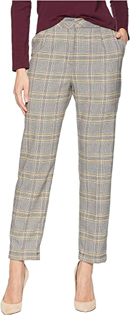 Menswear Plaid Tapered Leg Pants