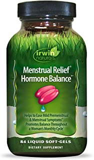 Irwin Naturals Menstrual Relief Hormone Balance - Plant-Based PMS Symptom Support Supplement - 84 Liquid Softgels