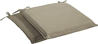 Mozaic Sunbrella AMCS114020 Indoor/Outdoor Cushion Corded Chair Pad Set, 17 in W x 17 in D, Canvas Taupe