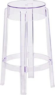 Flash Furniture 25.75'' High Transparent Counter Height Stool