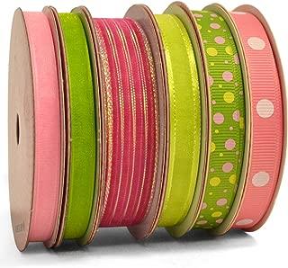 pink and green ribbon