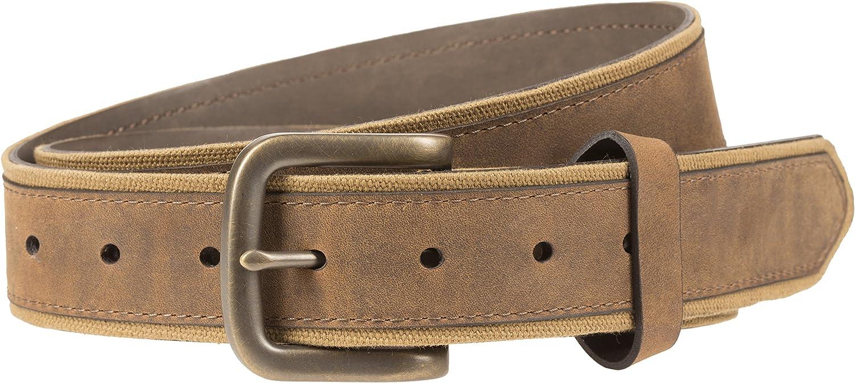Lee Men's Canvas and Nubuck Leather Belt