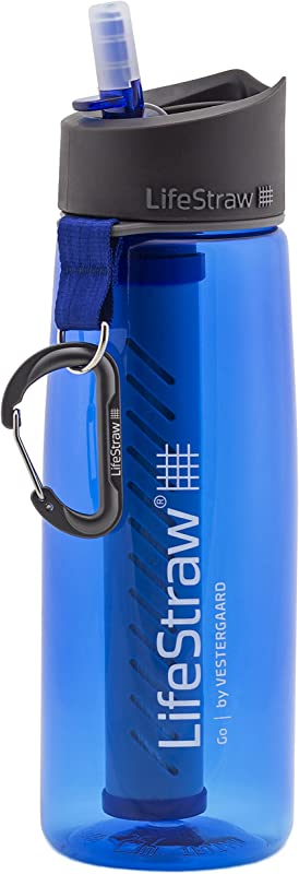LifeStraw Go Water Filter Bottles With 2 Stage Integrated Filter Straw For Hiking Backpacking And Travel