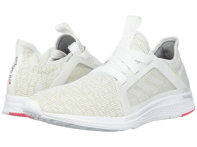 即席はず達成(アディダス) adidas レディースランニングシューズ?スニーカー?靴 Edge Bounce Runner Footwear White/Crystal White/Shock Red 8.5 (25.5cm) M