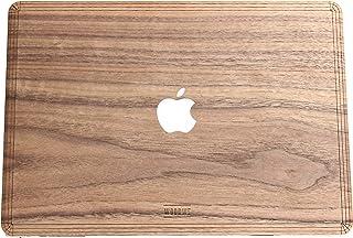 Apple MacBook Air Pro 11 13 15 インチ用WOODWEリアルウッドケース - ウォルナットカバー・バックカバー・スキン (Air 13 - TOP & BOTTOM, Walnut)