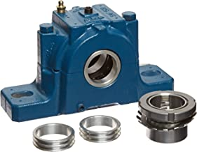 SKF SAF 1509X1.1/2 Ball Bearing Pillow Block, 2 Bolts, Adapter Mount, Non-Expansion Type, Labyrinth Seals, Cast Iron, Inch, 1-1/2
