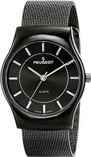 Peugeot Men's Mesh Stainless Steel Dress Watch