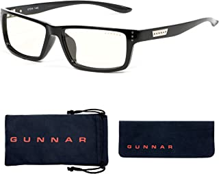 Gaming Glasses | Blue Light Blocking Glasses | Riot/Onyx by Gunnar | 35% Blue Light Protection, 100% UV Light, Anti-Reflective To Protect & Reduce Eye Strain & Dryness