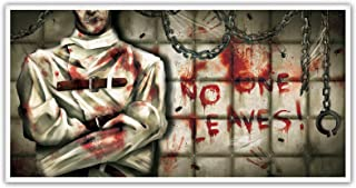 Halloween Plastic Asylum Banner