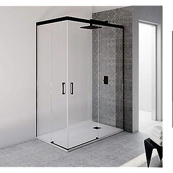 VAROBATH.Mampara de ducha rectangular con cristal transparente 6 ...