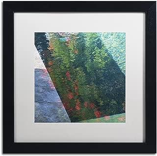 Inspired by Monet by Kurt Shaffer, White Matte, Black Frame 16x16-Inch