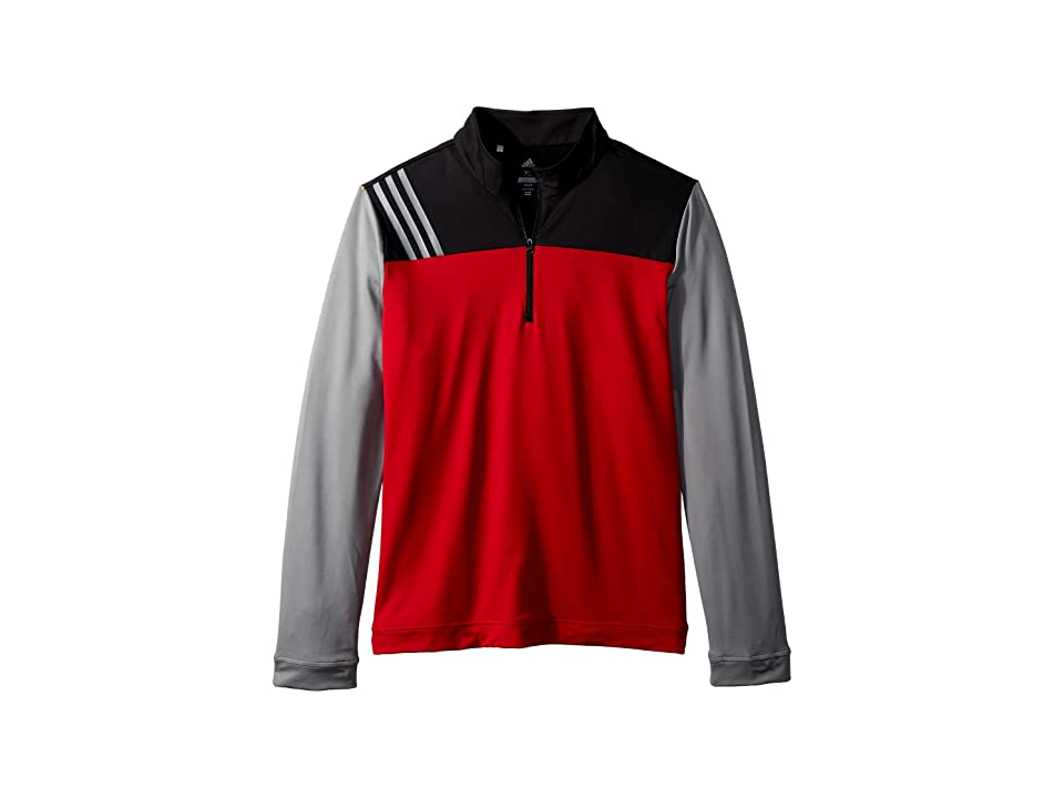 Image of adidas Golf Kids 3-Stripe Layering Jacket (Big Kids) (Power Red) Boy's Coat