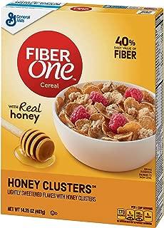 General Mills Fiber One Cereal, Honey Cluster's, 14.25 Oz