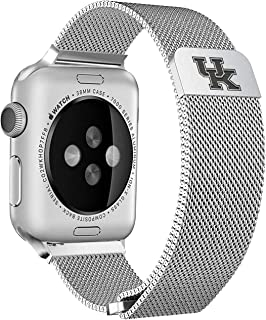 Kentucky Wildcats Stainless Steel Band Compatible with The Apple Watch - 42mm/44mm