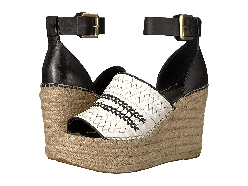 Marc Fisher LTD Alina Espadrille Wedge (White Multi Leather) Women