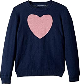 Heart Cashmere Sweater (Toddler/Little Kids/Big Kids)