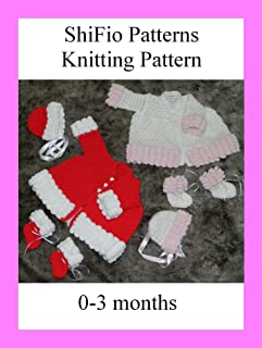 Knitting Pattern - KP200 -baby matinee jacket, hat and booties
