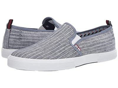 Ben Sherman Bradford Slip-On (Navy Pinstripe Linen) Men