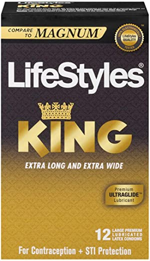 Lifestyles King Size XL Condoms 12 Pack