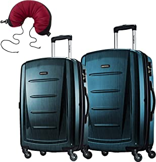 Samsonite Winfield 2 Fashion 2 Piece Bundle Spinner 24 And 28 With Travel  Pillow (Teal e6a9c5e91f7b1