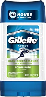 Gillette Anti-perspirant/deodorant Clear Gel, Power Rush, 4-Ounce Stick (Pack of 6) (packaging may vary)