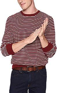 J.Crew Mercantile Men's Crewneck Sweater, Burgundy/Heather Silver, L
