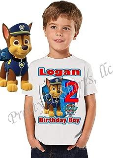 Chase Paw Patrol Birthday Shirt, Custom Birthday Shirt with Any Name and Age, Chase Birthday Shirt, Family Matching Shirts, Chase Shirts, Chase, Paw Patrol, Visit Our Shop