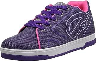 Heelys Propel Sneaker, Grey/Purple/Neon Pink Knit, 13 Medium US Big Kid