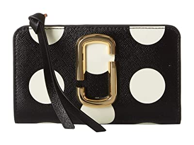 Marc Jacobs The Dot Snapshot Compact Wallet (Black Multi) Handbags