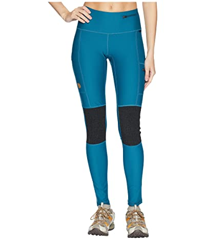 Fjallraven Abisko Trek Tights (Glacier Green) Women