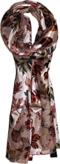 Ted and Jack - Fall Foliage Pattern Silk Feel Scarf