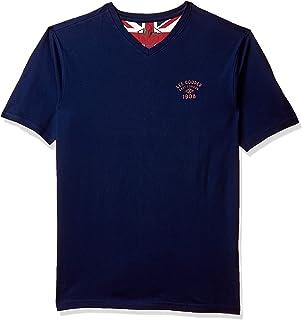 Lee Cooper Men's Printed Regular fit T-Shirt (1000872514028NAVY_Navy_L)