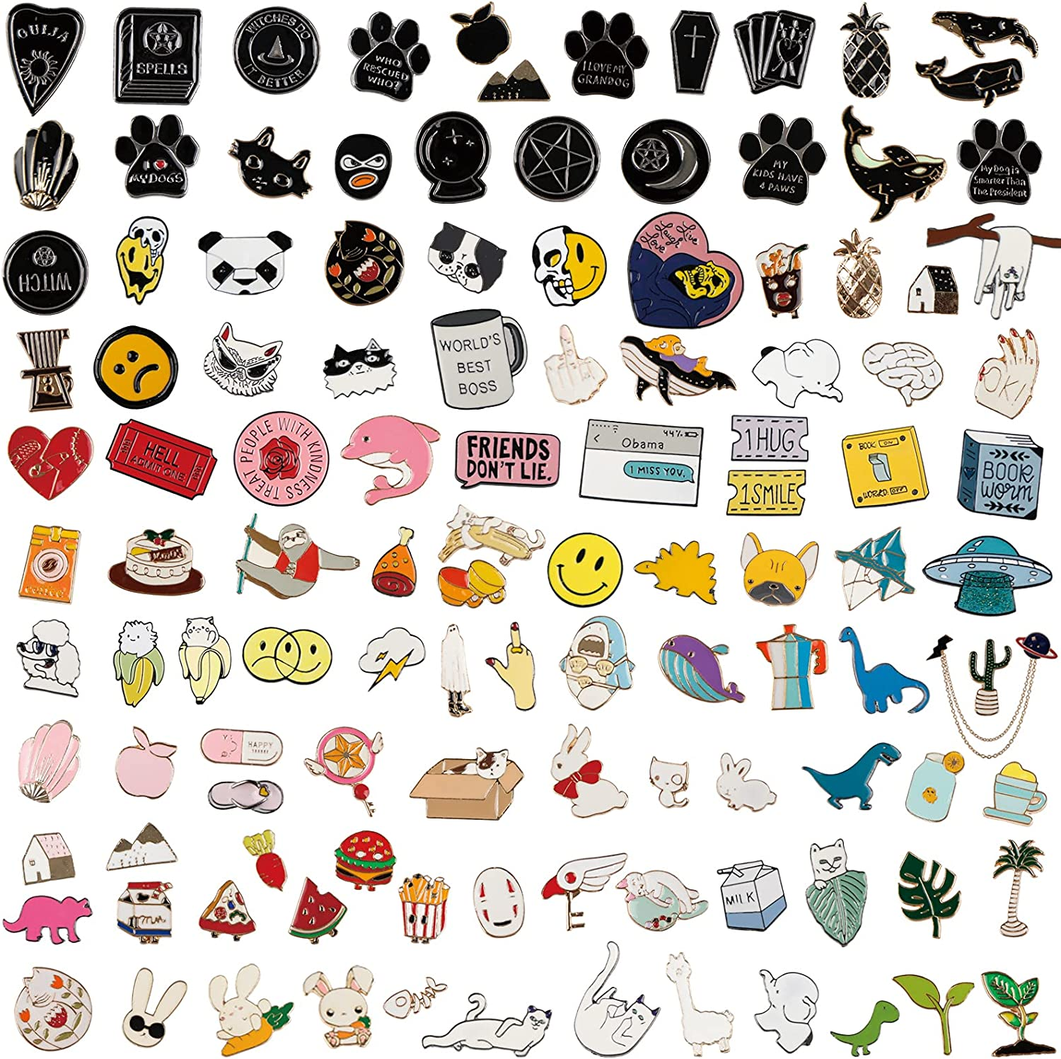 18 Mixed Style Enamel Brooch Pin Set to Give 2 Random Pattern Brooches Pins Jewelry Accessories Decoration Gift for Clothing Bags Jackets