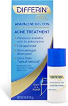 Acne Treatment Differin Gel, Acne Spot Treatment for Face w/ Adapalene (up to 30 day supply), 15 gram, pump