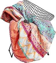 Wake In Cloud - Bohemian Blanket Throw, Orange Coral Boho Chic Mandala Printed, Soft Microfiber (45