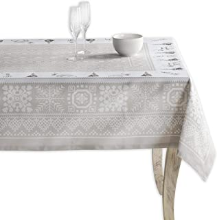 Maison d' Hermine Cozy Christmas 100% Cotton Tablecloth 54 Inch by 72 Inch. Perfect for Thanksgiving and Cristmas