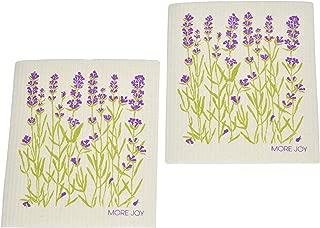 More Joy - Eco-Friendly Swedish Dishcloths, Pack of 2 (Lavender)