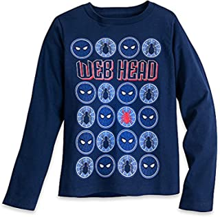 Marvel Spider-Man Long Sleeve T-Shirt for Boys Size XS (4) Blue