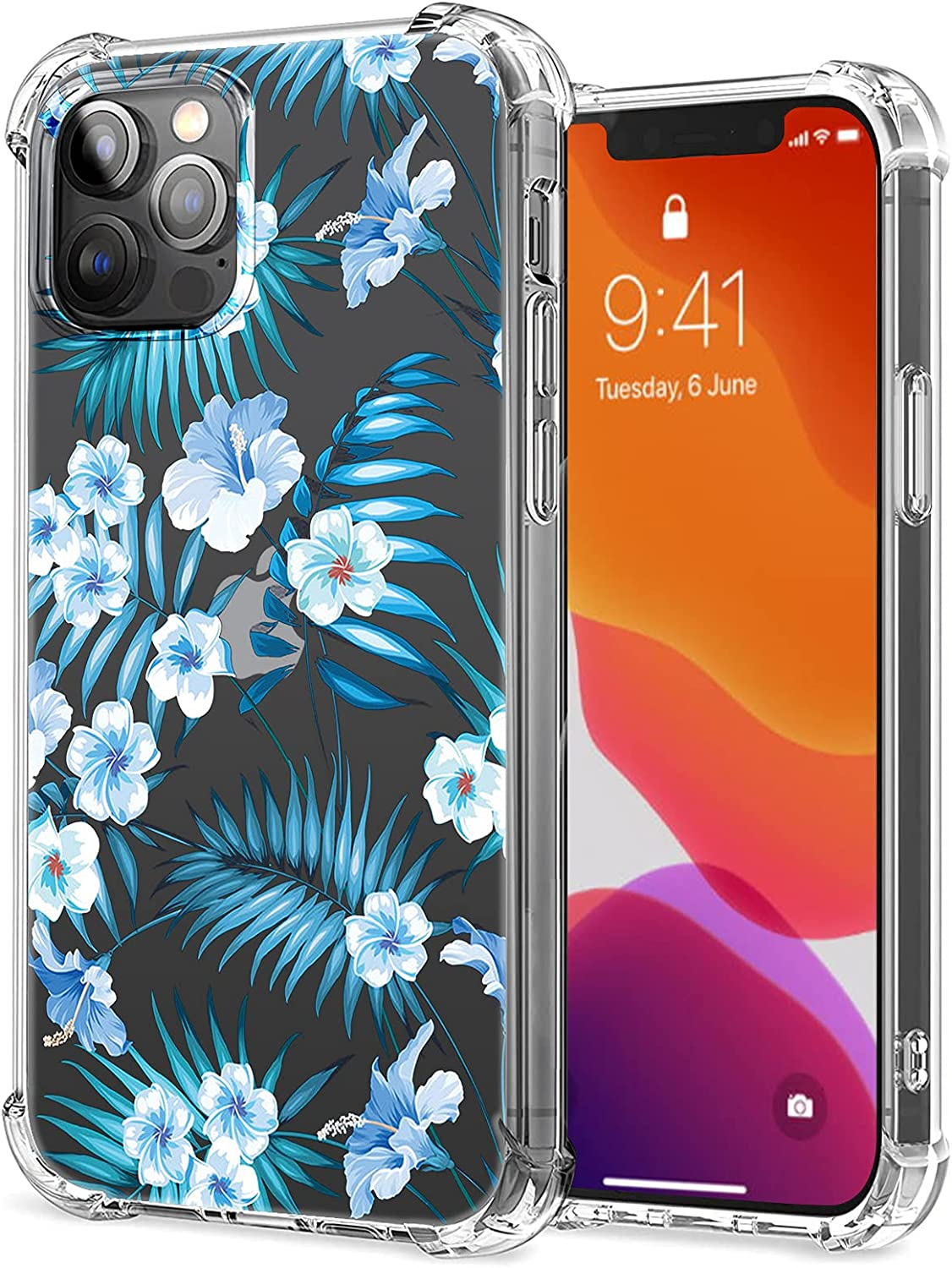 iPhone 13 Pro Max 5G Case Slim Fit Shockproof Protective Flower iPhone 13 Pro Max Cover Cute Women Girls Flexible TPU Silicone Scratch-Resistant Rubber Case Cover for iPhone 13 Pro Max 5G 6.7''-3